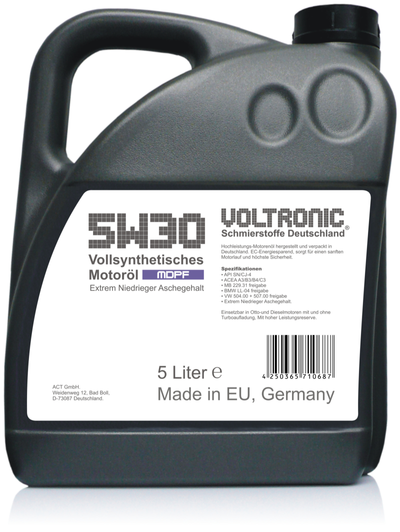 VOLTRONIC 5W30 MDPF Motor Oil