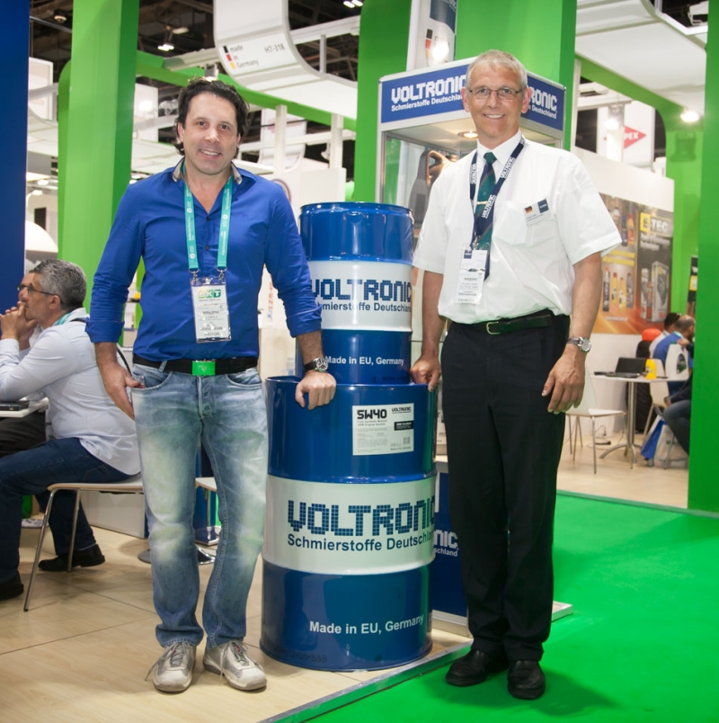 Greeting and welcome to the VOLTRONIC exhibition in Automechanika Dubai 2014