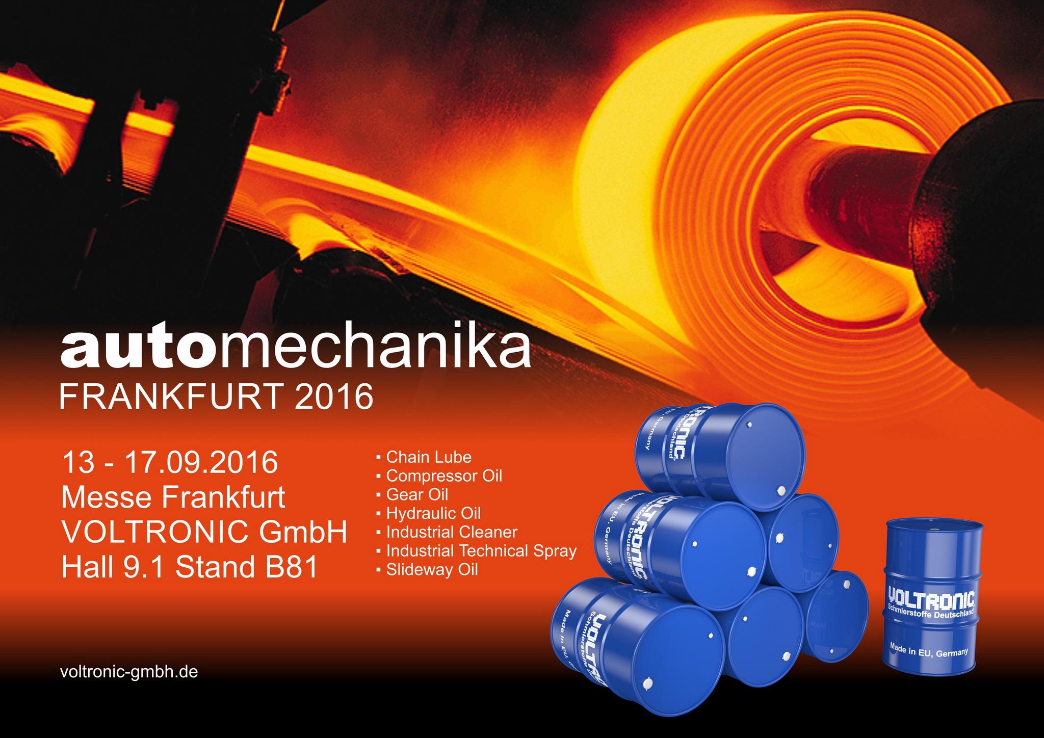 2016 Automechanika Frankfurt Welcome To Voltronic