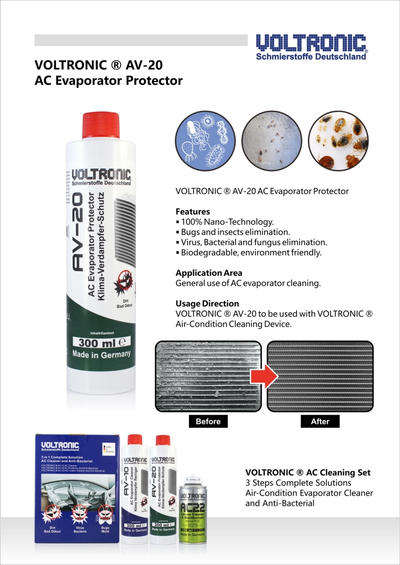 voltronic av20 air-condition evaporator cleaner