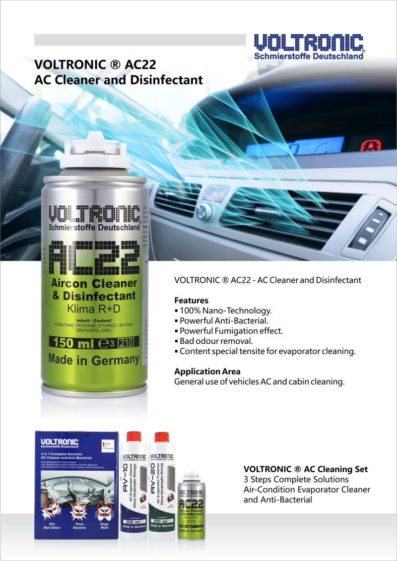 voltronic ac22 air-condition cleaner and anti-bacterial