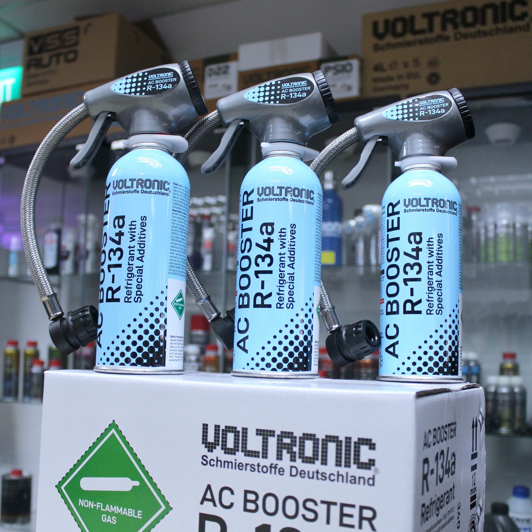 VOLTRONIC ® AC BOOSTER R-134a Refrigerant with Special Additives